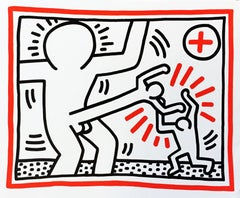 Rare Haring announcement card, Munich, Germany