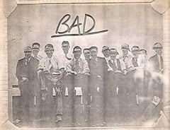 "Basquiat Xerox Collage, ""Bad"""