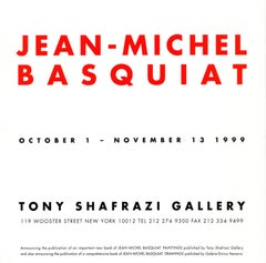 Basquiat at Tony Shafrazi Gallery (vintage announcement card, Basquiat poster)