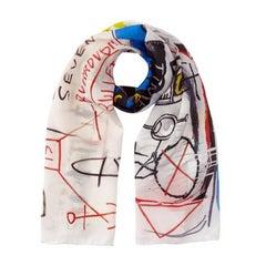 Basquiat Five Fish Species Silk Scarf