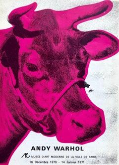 Andy Warhol Musee d'Art Moderne catalog (Warhol Cow)