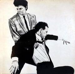 Robert Longo Men In The Cities record art 1981 (vintage Robert Longo)