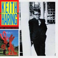 Keith Haring at Tony Shafrazi Gallery (set of 3 vintage Haring collectibles)
