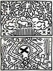 Keith Haring Poster for Nuclear Disarmament