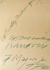 Vintage Original CY Twombly Exhibit Poster
