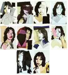 Mick Jagger, A Portfolio of Ten Cards