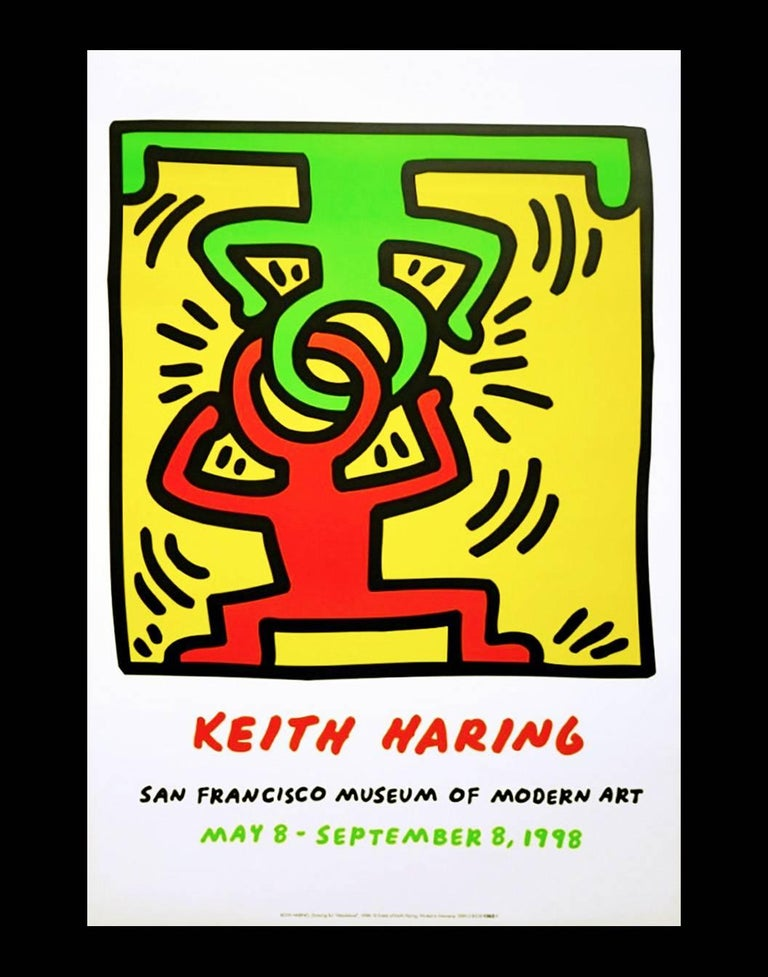 Vintage Keith Haring exhibit poster (Keith Haring San Francisco)  - Pop Art Print by (after) Keith Haring