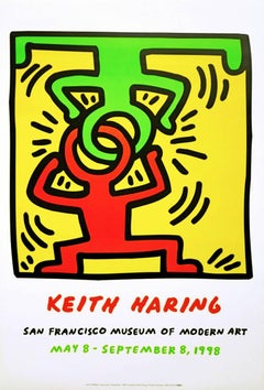 Vintage Keith Haring exhibit poster (keith haring San Francisco)