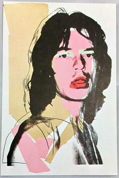Mick Jagger, Andy Warhol, A Portfolio of Ten Cards
