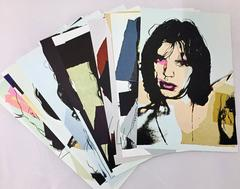 Mick Jagger, Andy Warhol, A Portfolio of Ten Cards