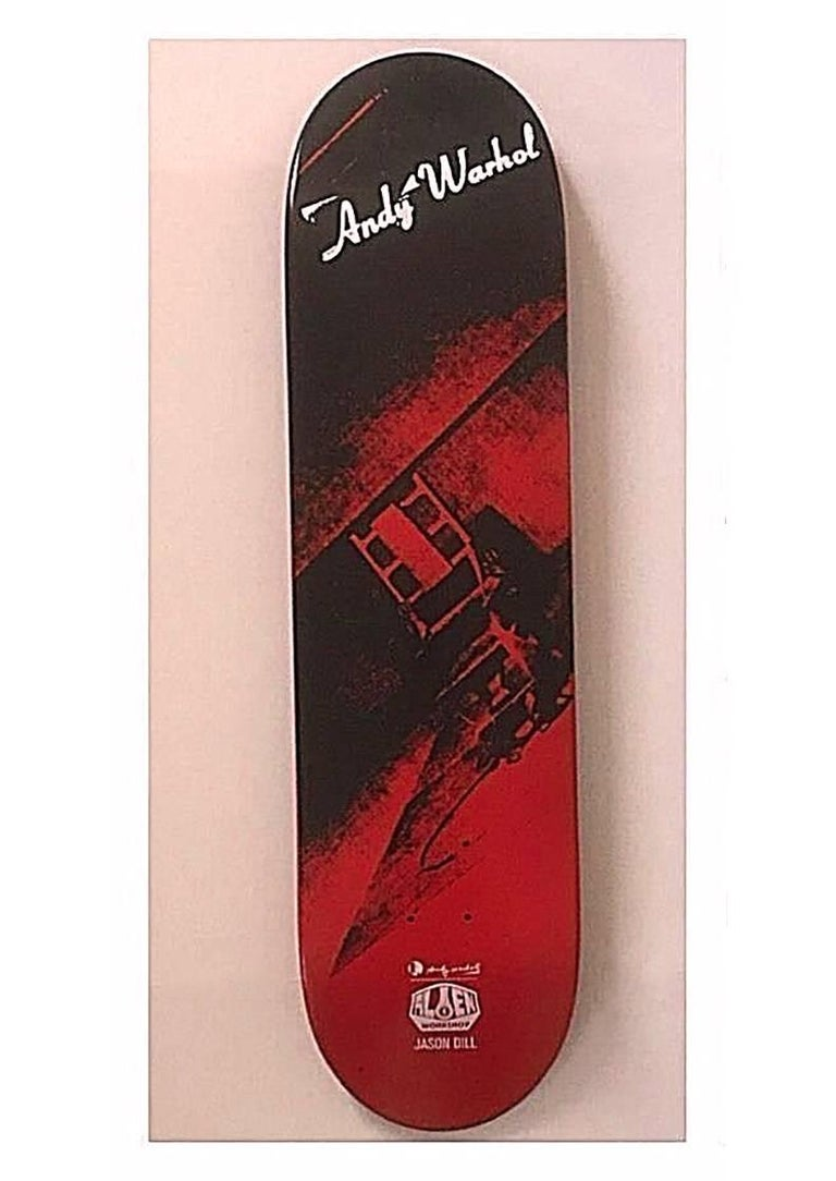 Andy Warhol Electric Chair Skate Deck (New) - Pop Art Art by (after) Andy Warhol