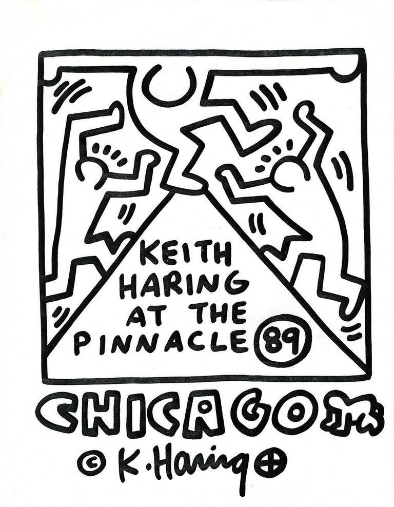 Keith haring keith haring at the pinnacle chicago print at 1stdibs keith haring at the pinnacle chicago print by keith haring malvernweather Gallery