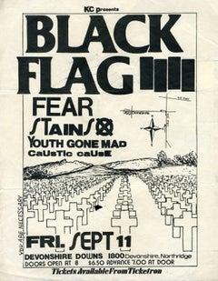 Raymond Pettibon, Illustrated Punk Flyer (Black Flag)