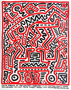 Keith Haring, Fun Gallery Exhibition Poster