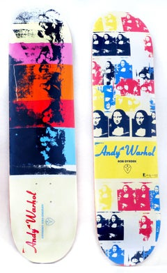 Andy Warhol Mona Lisa, Last Supper Skateboard Decks (set of two)