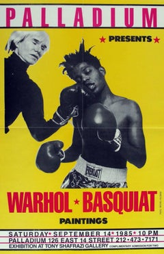 Jean-Michel Basquiat & Andy Warhol Paintings Exhibit Poster