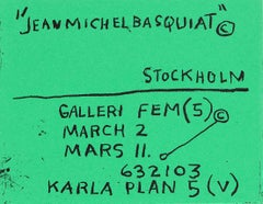 Basquiat Stockholm exhibition poster (Basquiat prints)