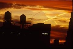 Manhattan Water Tower Sunset New York 1980