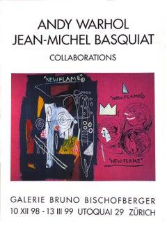 Vintage Warhol, Basquiat Exibition Poster (Warhol, Basquiat Collaborations)