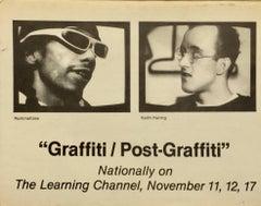 Vintage Basquiat, Keith Haring Graffiti Announcement