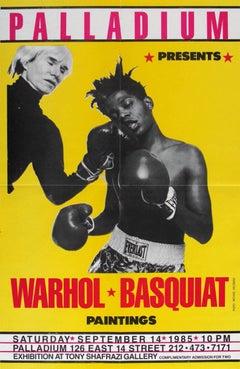 Warhol, Basquiat 'Paintings' Exhibit Poster (Palladium, Shafrazi)