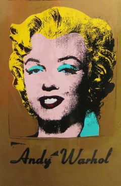 Andy Warhol Gold Marilyn Skate Deck