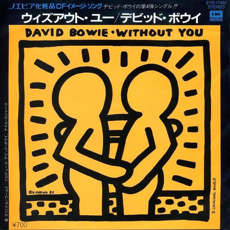 Keith Haring - Rare Original Keith Haring Vinyl Record Art (David ...