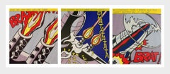 Roy Lichtenstein As I Opened Fire A Set of 3 Lithographs