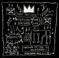 Basquiat Beat Bop poster (Basquiat record art)