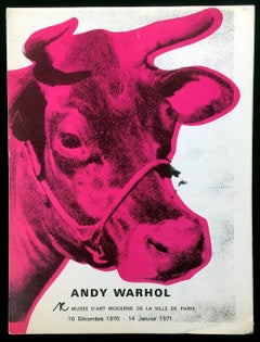 Andy Warhol Musee d'Art Moderne catalog 1970 (Warhol Cow)