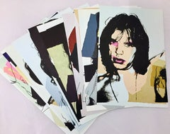 Mick Jagger Andy Warhol set of ten cards (Leo Castelli gallery)