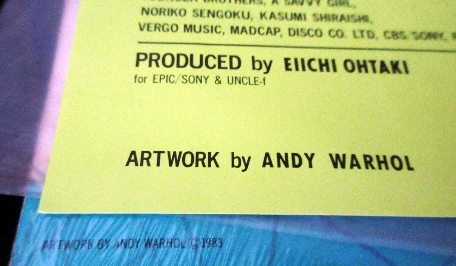 Andy Warhol - Original Andy Warhol Album Cover Art For Sale at 1stdibs
