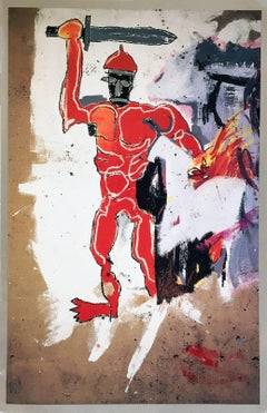 Basquiat at Vrej Baghoomian gallery (Basquiat Red Warrior announcement)