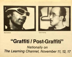 Basquiat, Keith Haring vintage graffiti announcement