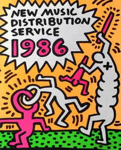 Rare original Keith Haring cover art
