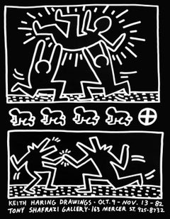 Keith Haring Drawings (1982 Tony Shafrazi exhibition poster)