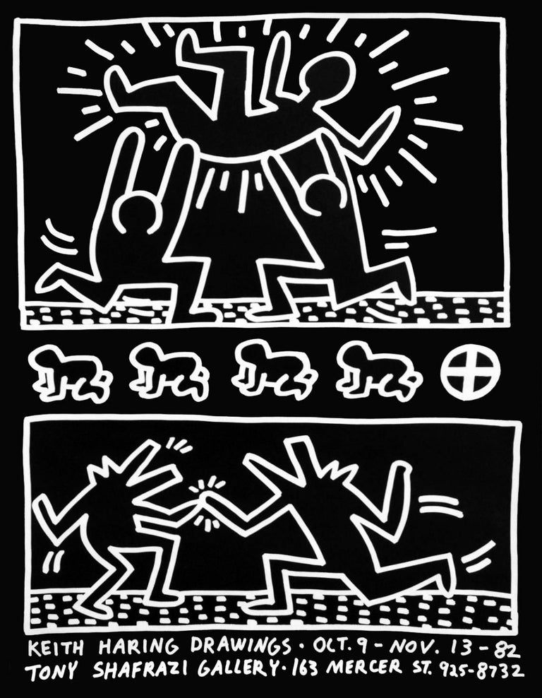 Keith Haring Drawings (1982 Tony Shafrazi exhibition poster)  - Print by Keith Haring