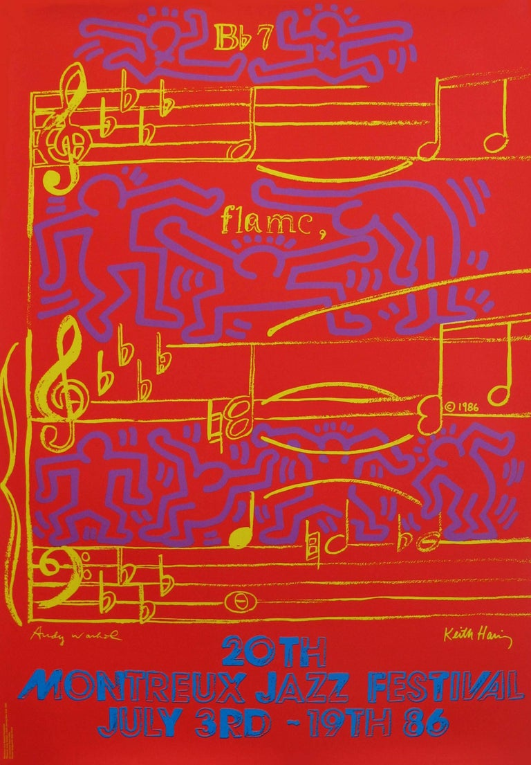 Andy Warhol, Keith Haring Montreux Jazz poster 1986