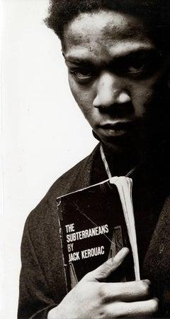 Basquiat at Vrej Baghoomian announcement (Basquiat Portrait with Jack Kerouac)