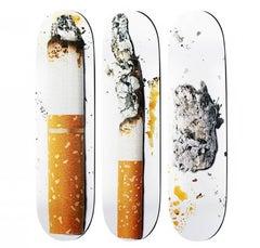 Urs Fischer Supreme skateboard decks (triptych)