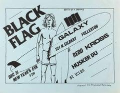 Raymond Pettibon illustrated Punk flyer (early Raymond Pettibon)
