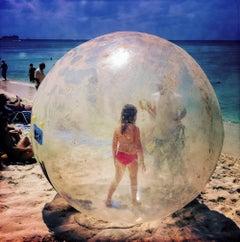 Bubble Girl, The Cayman Islands (Beach photography)