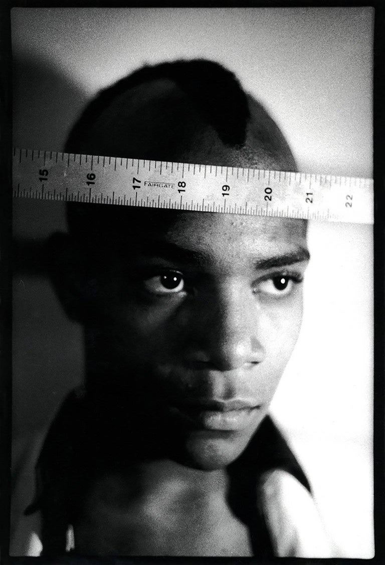 Nicholas Taylor Black and White Photograph - Basquiat 1979 photograph (Nick Taylor photograph of Jean-Michel Basquiat)