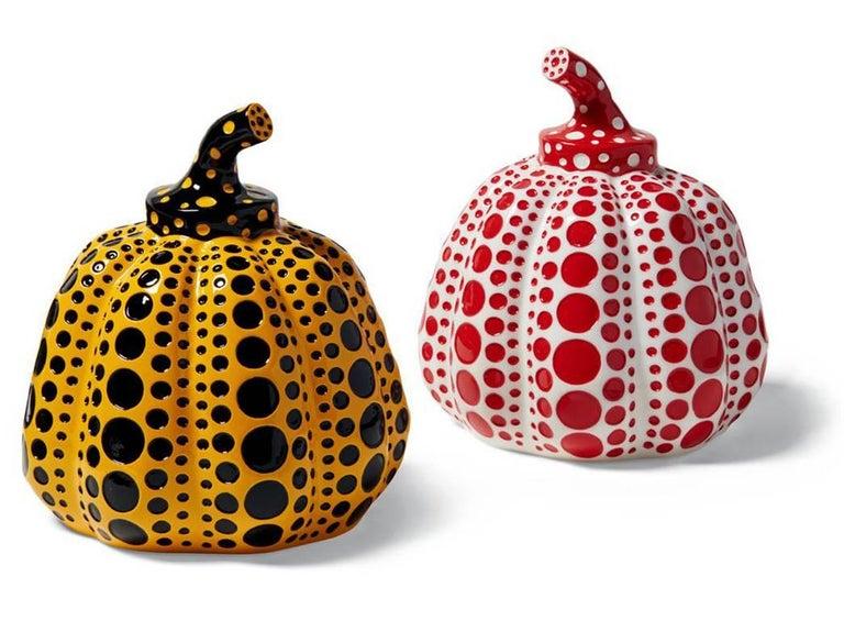 Kusama Pumpkins (Set of Two)  - Sculpture by Yayoi Kusama