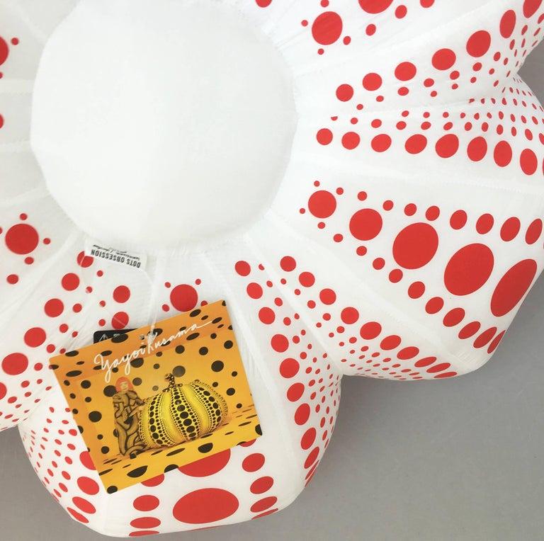 Kusama Red and White Pumpkin (large plush) - Pop Art Sculpture by Yayoi Kusama