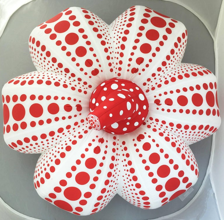 Kusama Red and White Pumpkin (large plush) For Sale 1