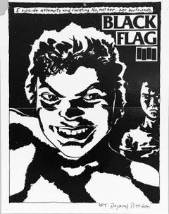 Vintage Black Flag poster (Pettibon prints)