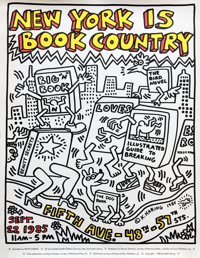 Keith Haring New York is Book Country (Keith Haring prints)