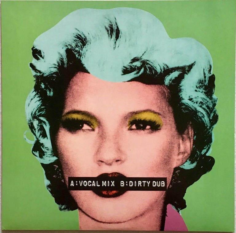 Banksy Kate Moss record cover art