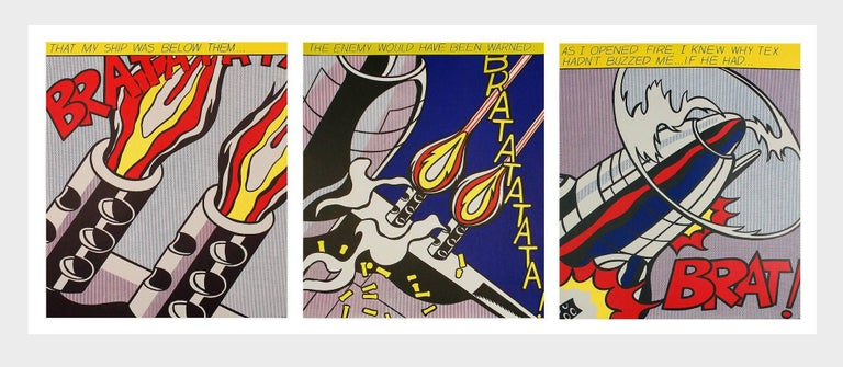 As I Opened Fire set of 3 lithographs - Pop Art Print by (after) Roy Lichtenstein
